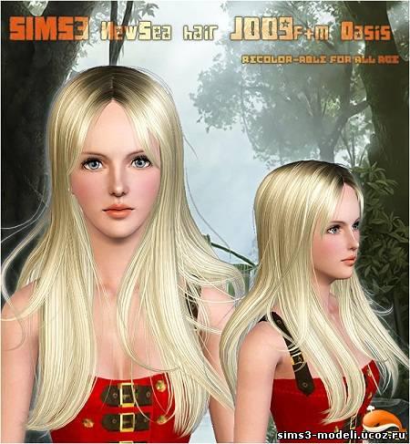 Женская прическа для sims 3 от new sea new sea