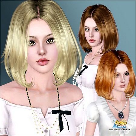 Прическа peggy для Sims 3.